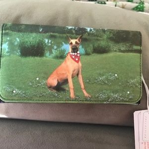 Great Dane Wallet Fawn Checkbook Trifold New Dog